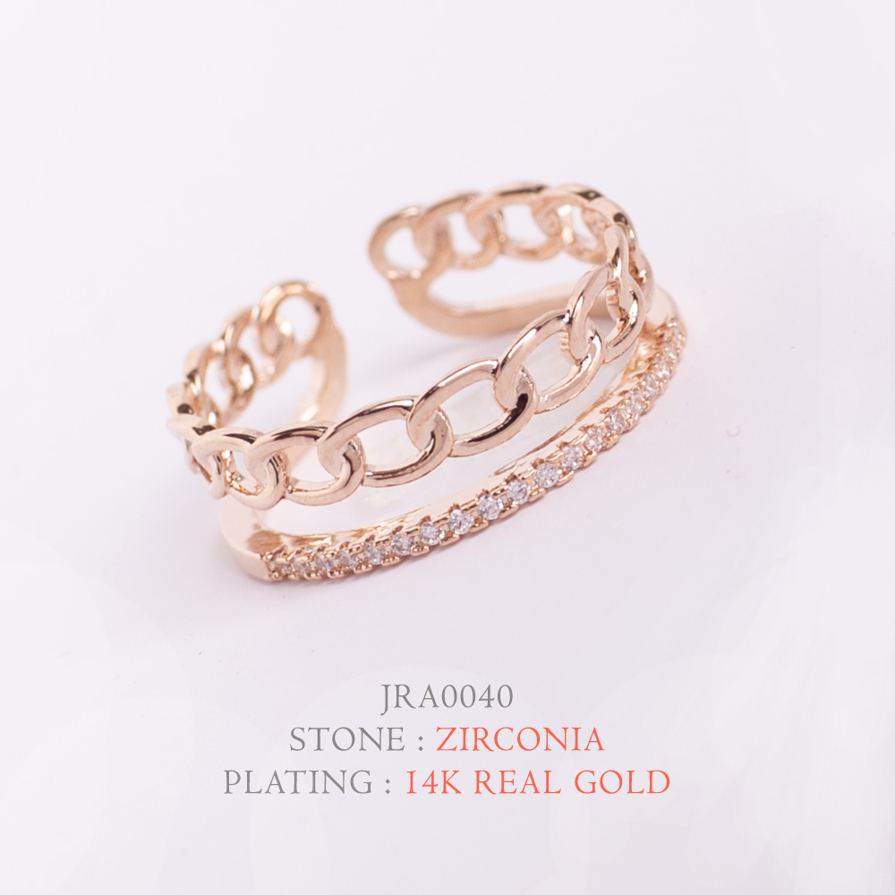 [지르콘반지] #JRA0040  14K Double GP_Shiny Ring